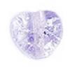 Glass Bead Cracked 8mm Heart Alexandrite Dyed - Strung